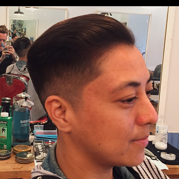 Flat top comb, trimmer, hattori hanzo shears, hattari hanzo, razor, straight razor, barber, barbershop, bushwick brooklyn, fade, queer fashion, short haircut,